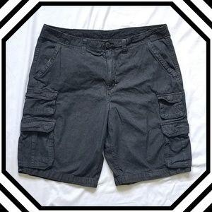 Faded Glory Dark Gray Cargo Shorts